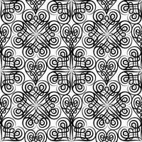 Teste padrão sem emenda floral celta abstrato. Ornamento oriental de linha vetor
