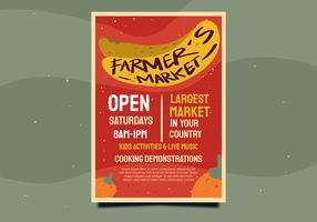 projeto de panfleto mercado de agricultores vetor