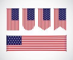 Conjunto de Banner dos EUA vetor