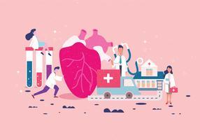 Personagens de cuidados de saúde Vol 2 vetor