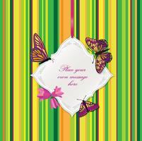 Quadro de flor. Decoração de fronteira de cartão. Fundo floral de férias vetor