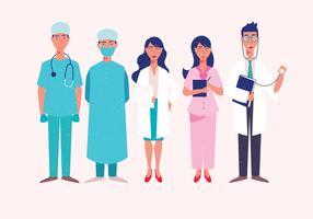 Personagens de médico de saúde vetor
