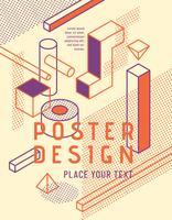 Design de cartaz geométrico vetor