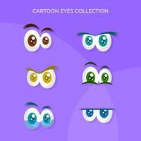 Olhos de Cartoon coloridos engraçados plana vetor