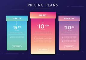 Planos de Preços Vector Design
