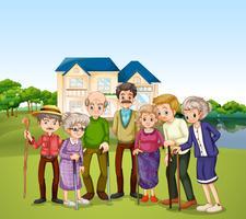 Lar de idosos vetor