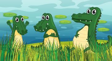 Dinossauros assustadores vetor