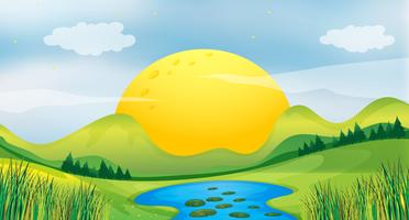 Vista do sol vetor
