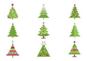 Pacote estilizado de vetores de árvore de natal