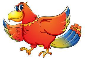 Pássaro tropical vetor
