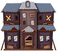 Casa antiga em cor cinza vetor