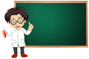Cientista em sala de aula vetor