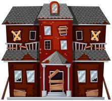 Casa grande com más condições vetor