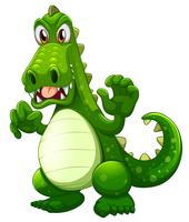 Um crocodilo com raiva