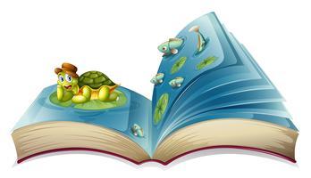 Livro da tartaruga vetor
