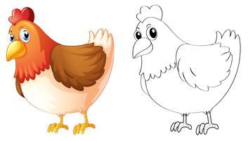Doodles elaboração de animais para frango vetor
