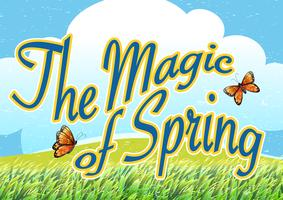A magia da primavera vetor