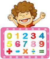 Design de fonte para números e sinais vetor