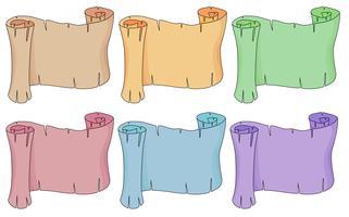 Seis rolos de papel vazios vetor