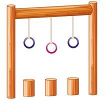 Anéis de recreio equipamentos de playground vetor