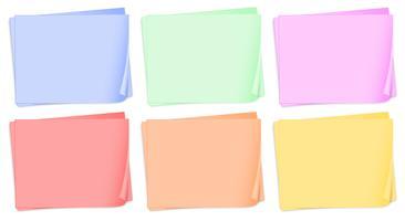 Papéis coloridos vazios vetor