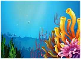 Uma bela vista sob o mar vetor