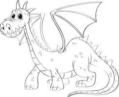 Contorno animal para dragão vetor