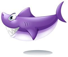 Um grande tubarão sorridente