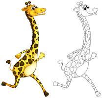 Doodle animal para girafa vetor