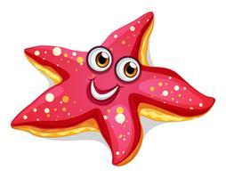 Uma estrela do mar sorridente vetor