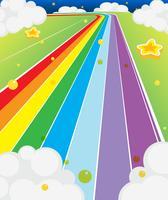 Uma estrada colorida vetor