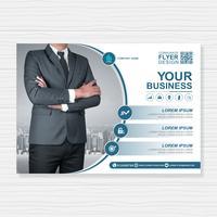 Modelo de negócios capa a4 para um design de relatório e folheto, panfleto, banner, decoração de folhetos para impressão e apresentação de ilustração vetorial vetor