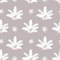 Padrão de penas. Penas brancas em fundo cinza. textura perfeita travesseiro natural. vetor
