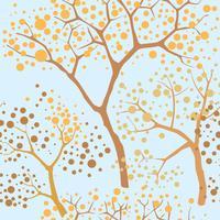 Fundo sem emenda de floresta. Padrão de árvore de jardim vetor
