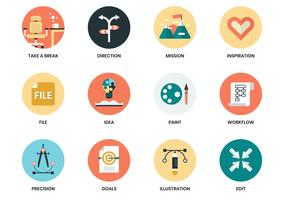 Conjunto de ícones de negócios para pôster de negócios vetor