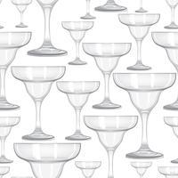 Padrão sem emenda de copo de vinho. Beber fundo de vinho. Decoração de festa vinária vetor