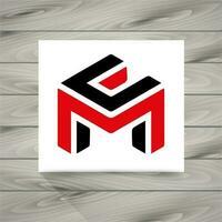 Letra m, conceito, símbolo vetor