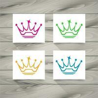 Símbolo da coroa vetor