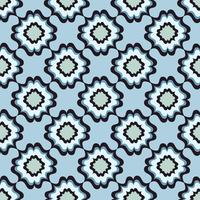 Teste padrão de flor sem emenda. Ornamento floral abstrato. Textura oriental vetor