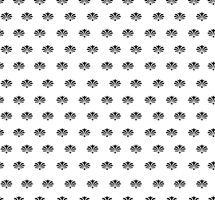 Teste padrão de flor sem emenda. Ornamento floral abstrato. Textura de brocado