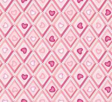padrão de coração. é um padrão sem emenda de menina. padrão de diamante. vetor