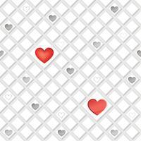 Love heart seamless pattern Ornamento geométrico de férias de dia dos namorados