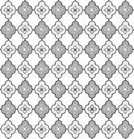 Padrão de linha sem costura. Ornamento floral abstrato. Textura geométrica vetor