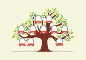 Modelo de árvore genealógica vetor