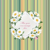 Flower bouquet Floral frame Florescer fundo de cartão de verão vetor