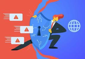 Segurança cibernética e escudo vetor