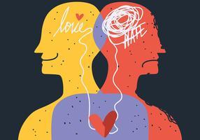 Saúde Mental e Sentimentos vetor