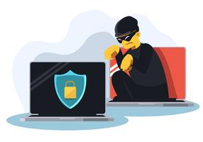 Cíber segurança vetor