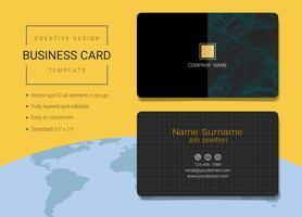 Modelo de design de cartão de nome comercial criativo. vetor