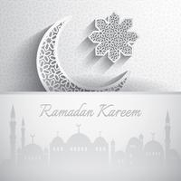 Ramadan Kareem. Cartão de saudação vetor